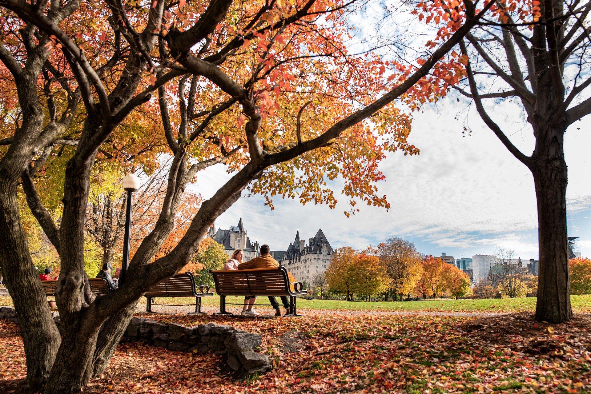 Осенний европейский парк
