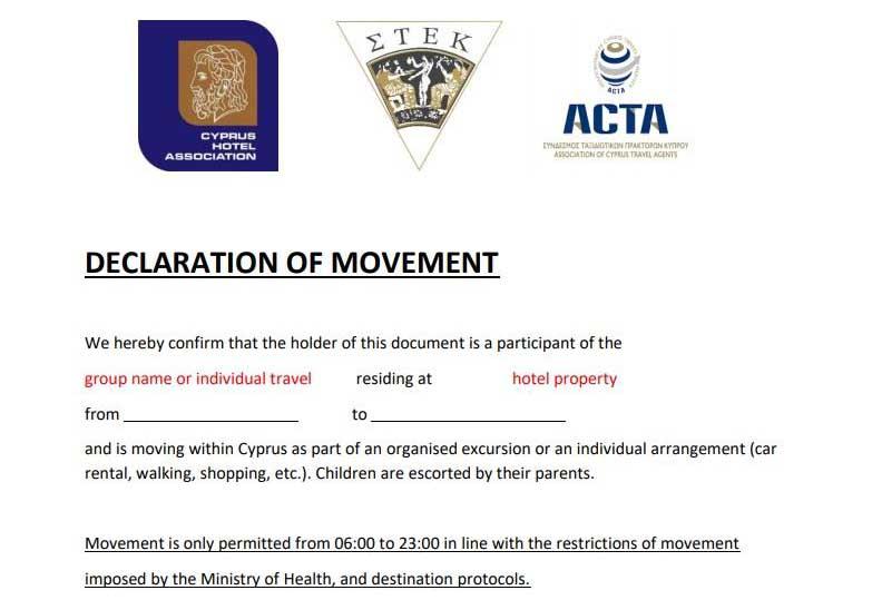 Declaration of Movement