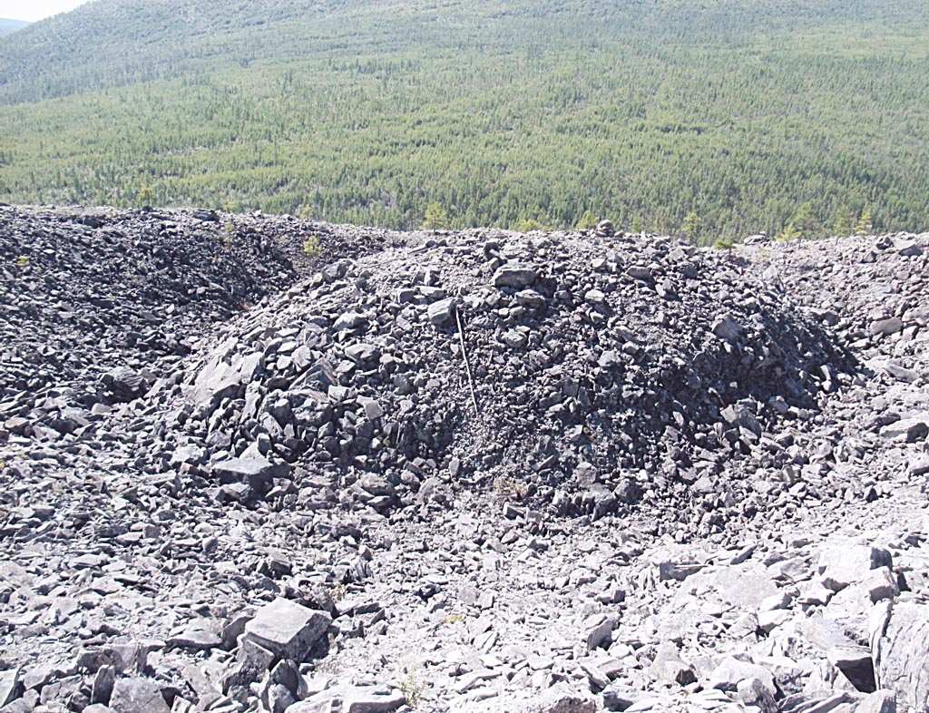 Центр Патомского кратера