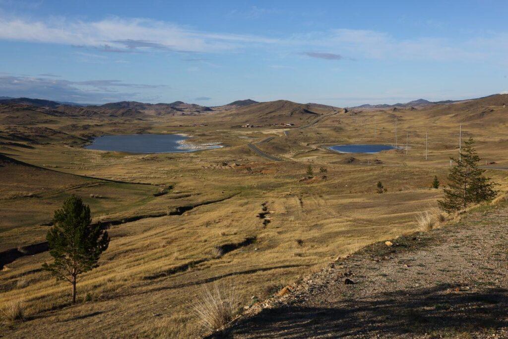 Вид с холма в Тажеранской степи