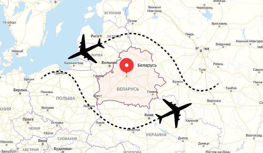 Временный запрет на полеты над Белоруссией
