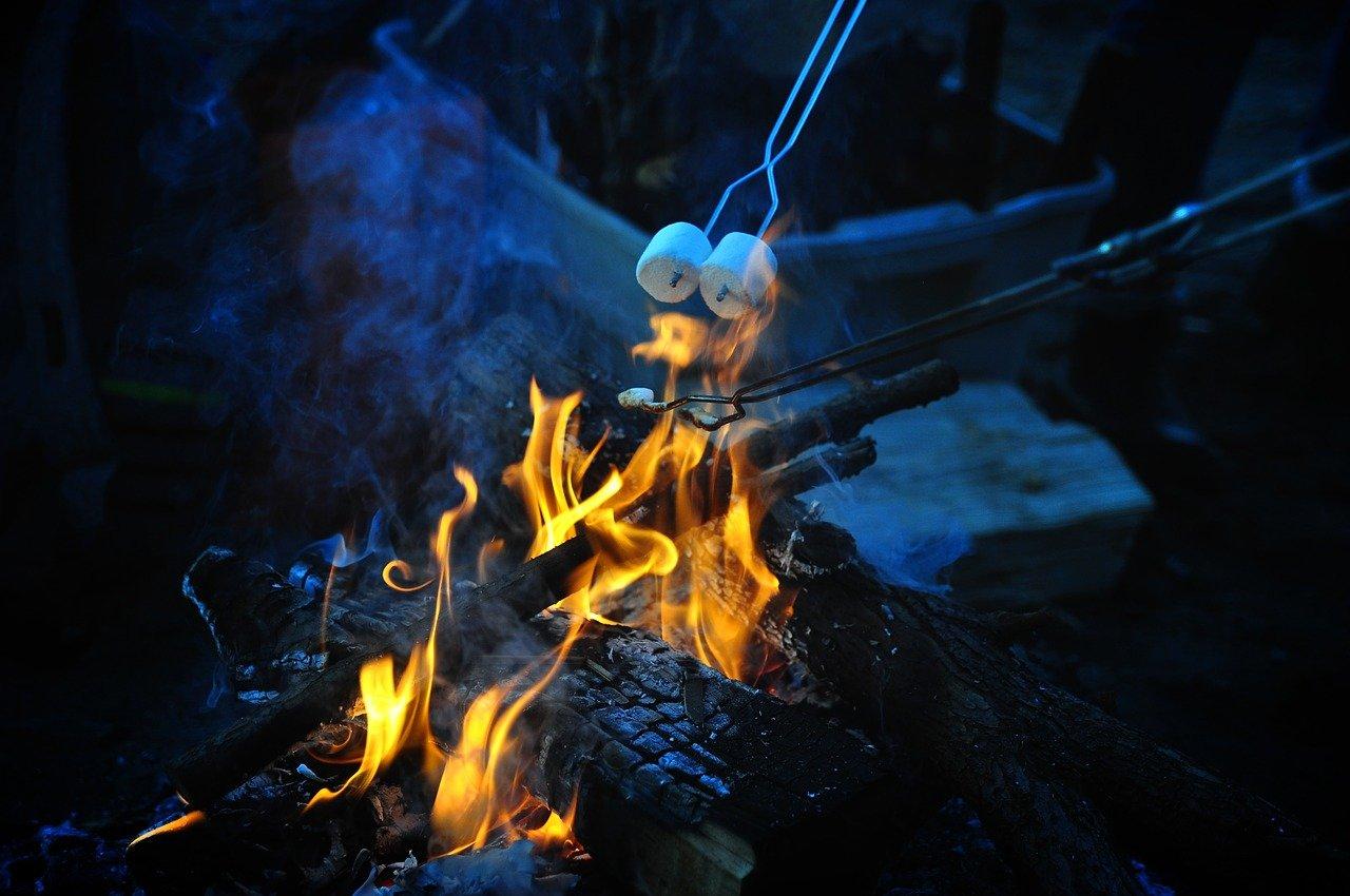 Вечера у костра в детском лагере