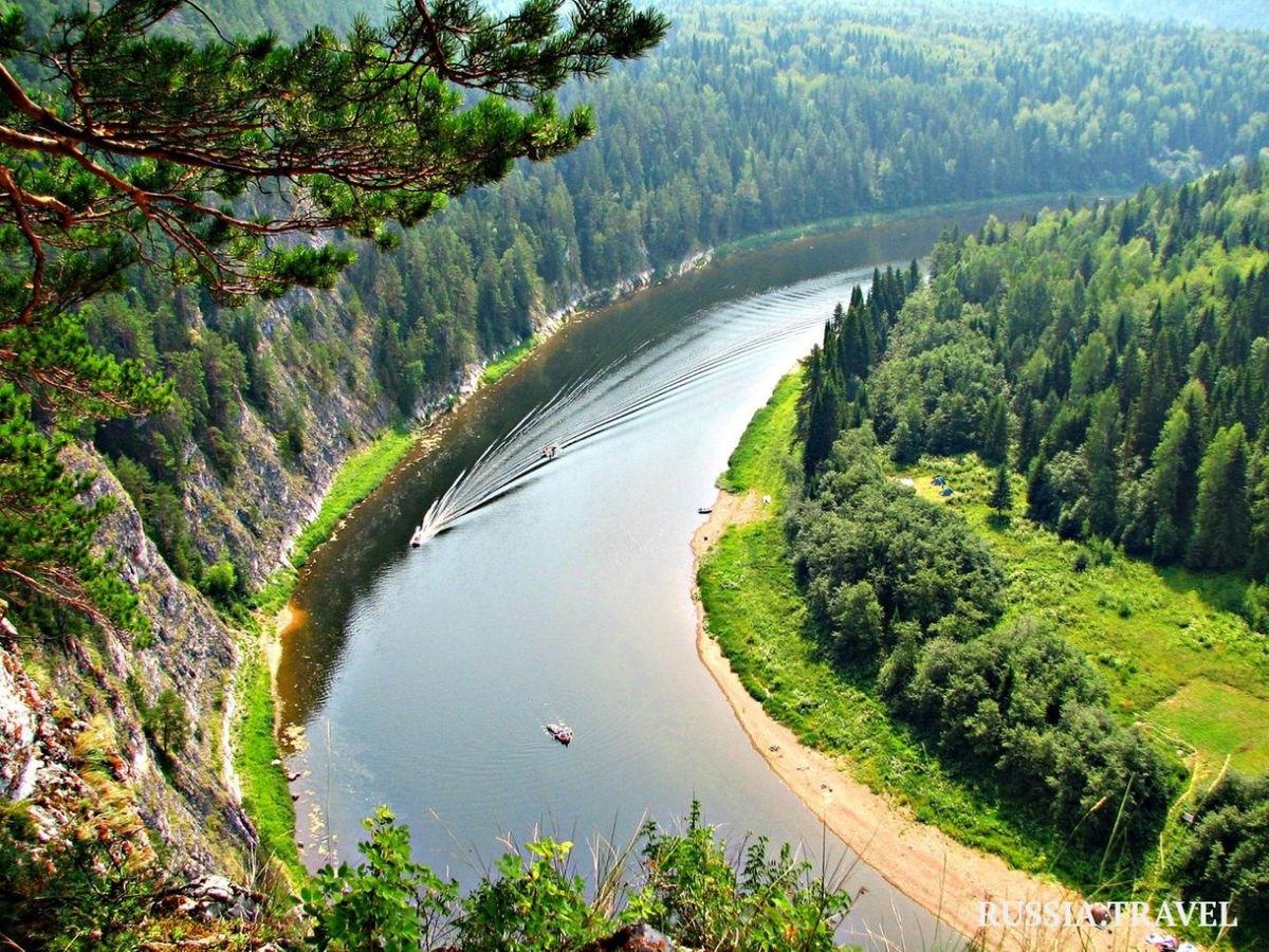 Вид на долину реки на Урале