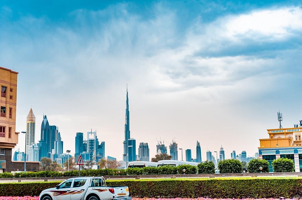 Вид на район Даунтаун в эмирате Дубай