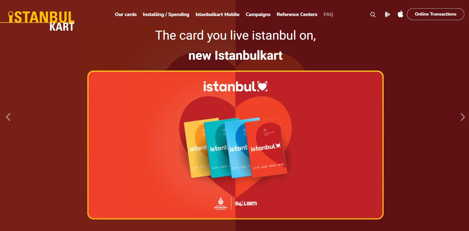 Официальный сайт Istanbulkart