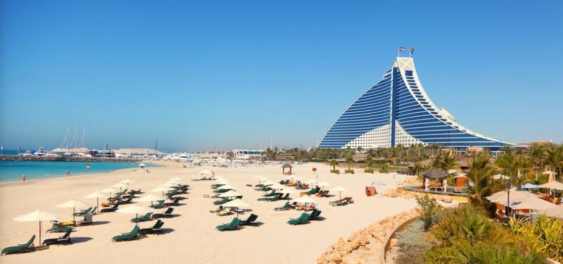 Частный пляж Jumeirah Beach Hotel