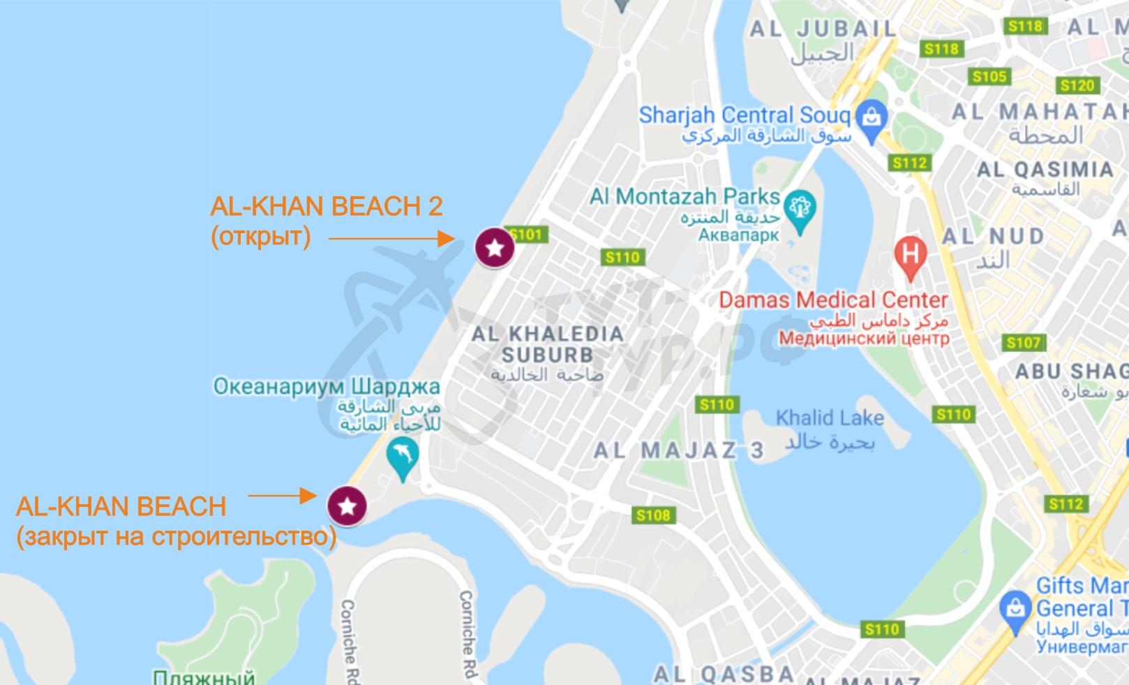 Al Khan Beach на карте