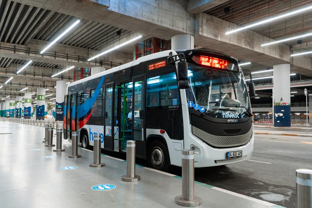 Автобус Havaist в Новом аэропорту Стамбула
