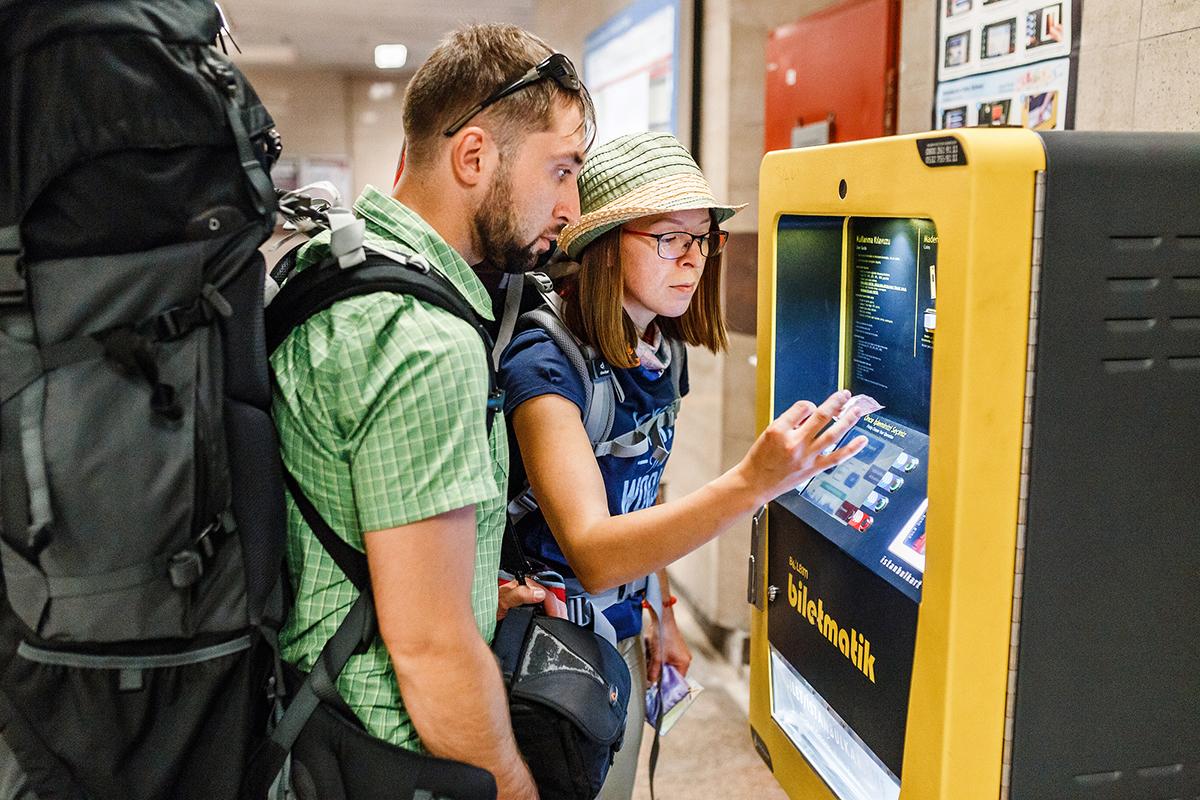 Пополнение карты Истанбулкарт через терминал
