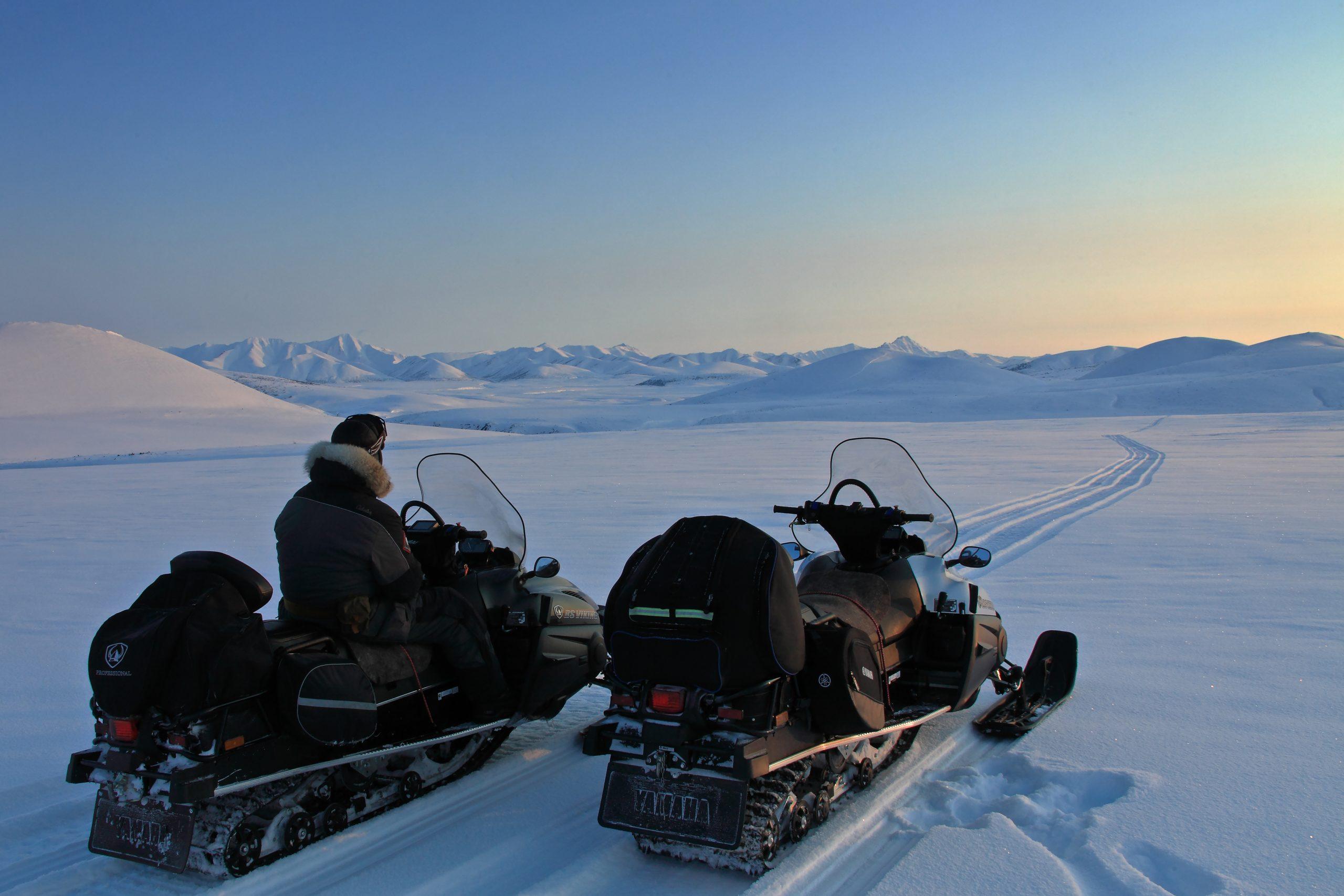 Дорога на рыбалку к озеру Майаниц зимой