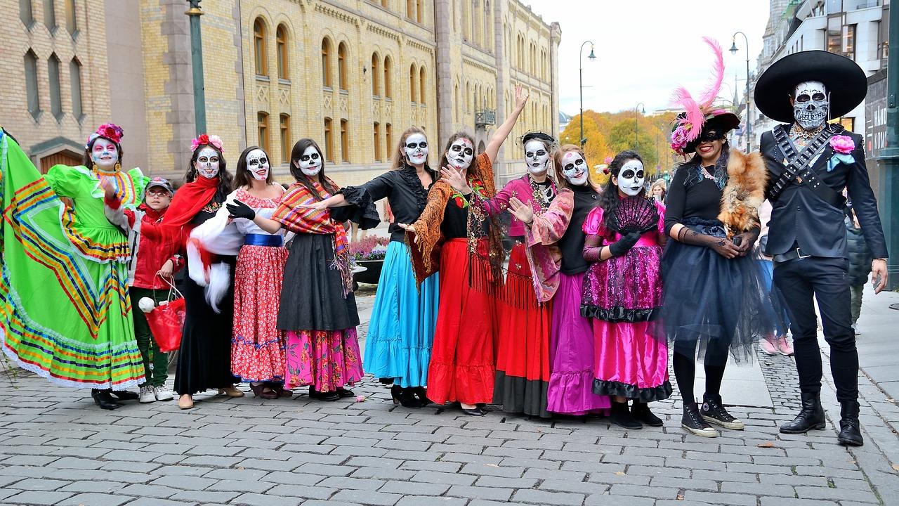 Парад на День Мервых в Мексике