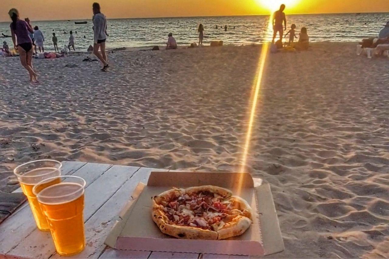 Крошечная дорогая пицца в Оленевке