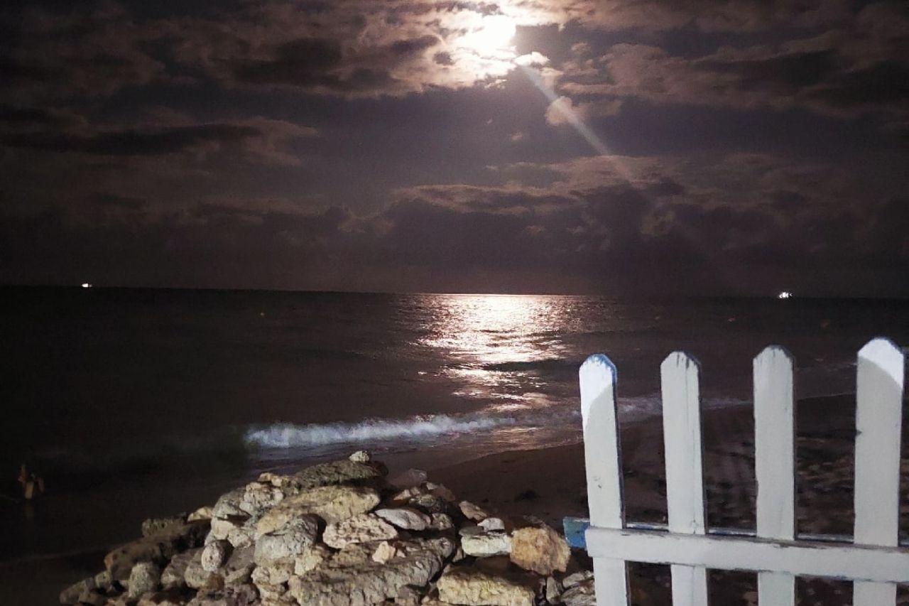 Ночное море в Евпатории