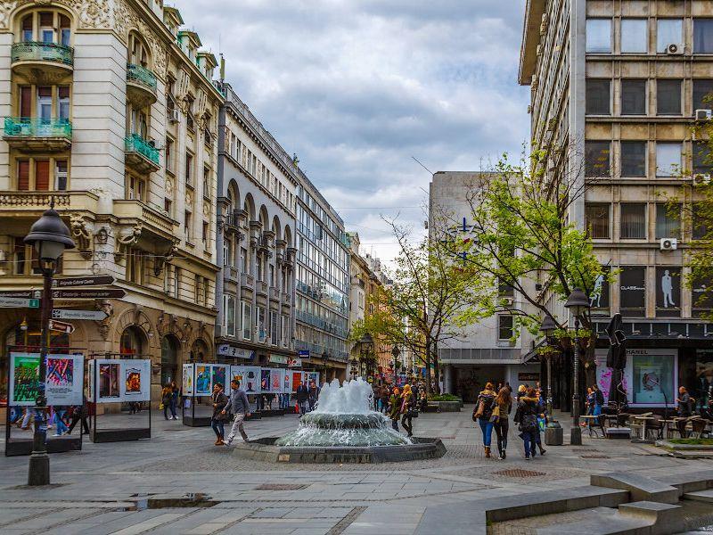 Площадь Республики в районе Стари Град