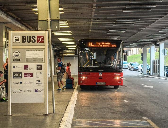Из аэропорта Белграда в центр города, на автобусе А1