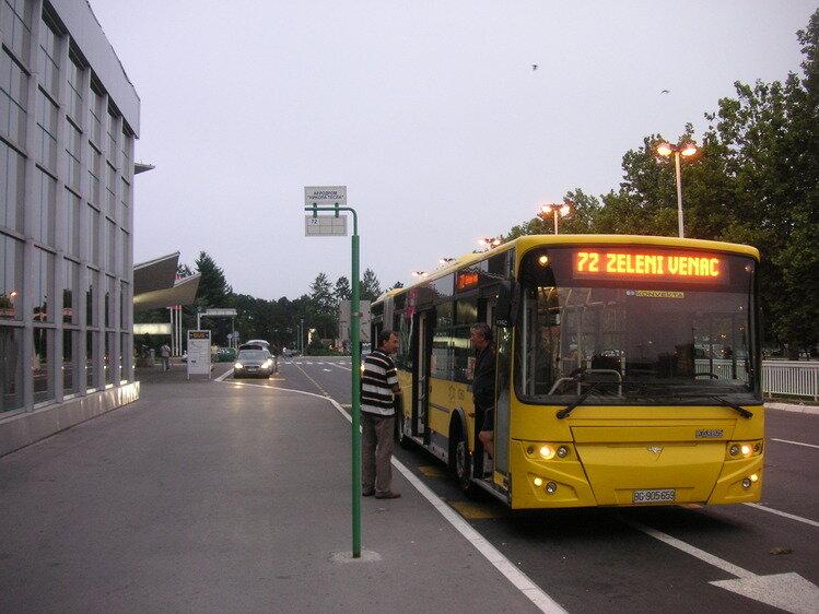 Из аэропорта Белграда в центр города, на автобусе № 72
