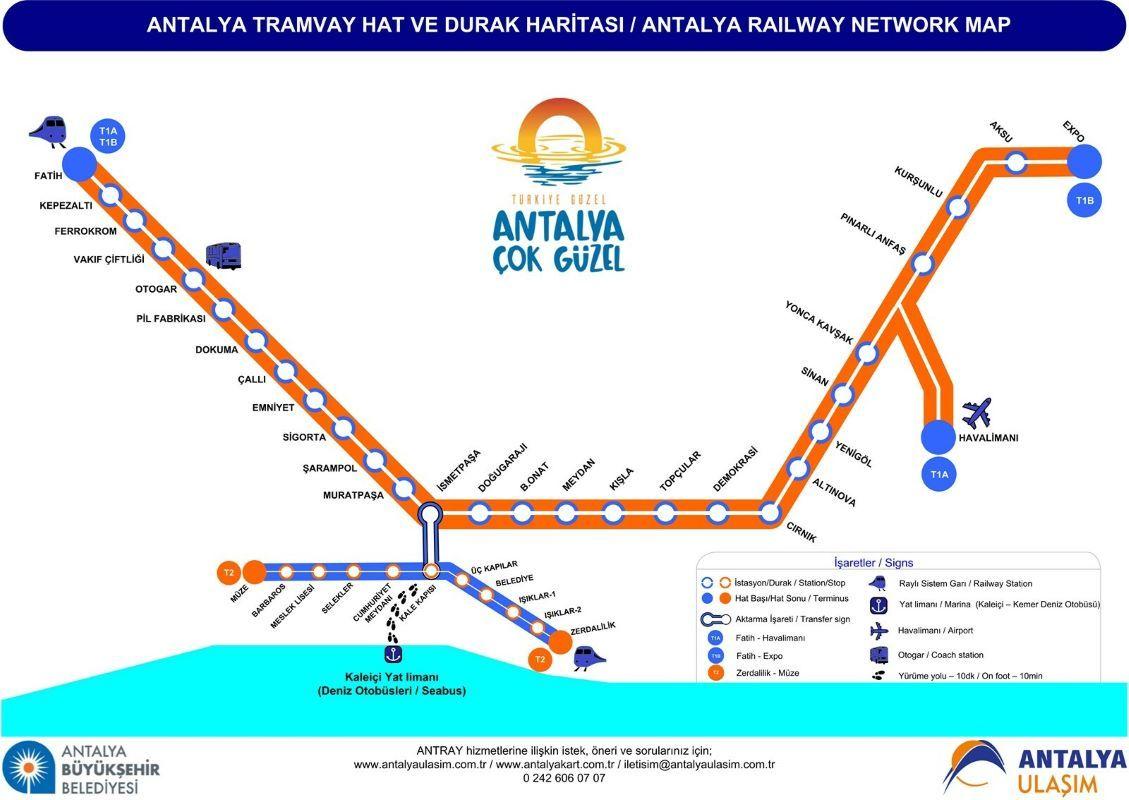 Схема трамвая Анталии