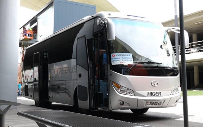 Из аэропорта Еревана в центр города, на автобусе №201